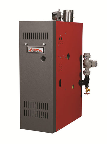 Crown Boiler - AWR Series - ARUBA 4 Model AWR245 - 245,000 BTU Gas Fired Hot Water Boiler (83.4% AFUE) Natural Gas or LP Gas Boiler