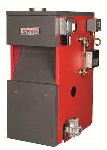 Crown Boiler - BSI Series - BERMUDA Model BSI380 - 380,000 BTU Cast Iron Gas Steam Boiler (77.5% AFUE) Natural & LP Gas Boiler