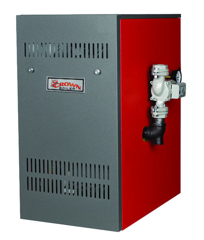 Crown Boiler - BWF Series - BALI Model BWF162 - 162,000 BTU Power Vent Cast Iron Gas Fired Hot Water Heater (82.5% AFUE) Natural Gas & LP Gas Boiler
