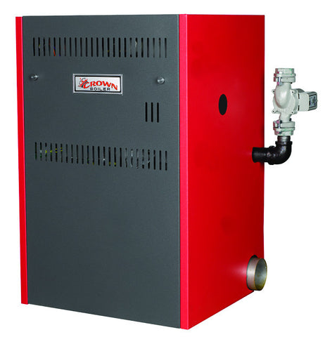 Crown Boiler - CWD Series - CABO 2 Model CWD165 - 165,000 BTU Direct Vent Cast Iron Gas Fired Hot Water Boiler - (85.2% AFUE) High Efficiency - Energy Star Qualified - Natural Gas & LP Gas Boiler