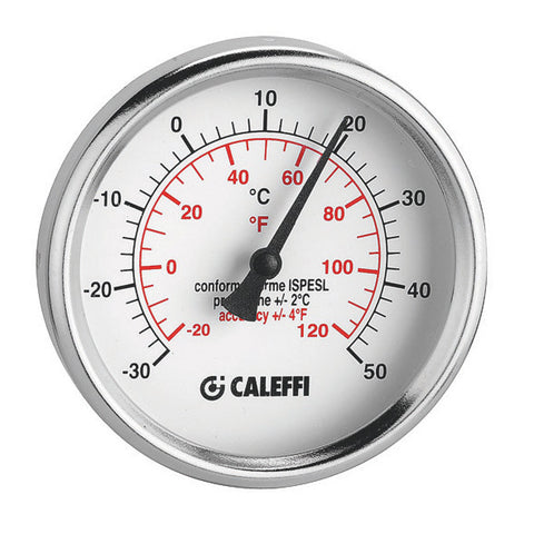Caleffi  F29571 Scale Temperature Gauge 32-250°F