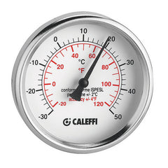 Caleffi F29571  Dual Scale Temperature Gauge 32-250F