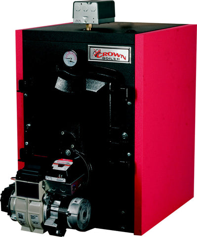 Crown Boiler - FWZ Series - FREEPORT 2 Model FWZ100 - 123,000 BTU 3-Pass Residential Cast Iron Oil Hot Water Boiler - (87% AFUE) High-Efficiency Oil Boiler