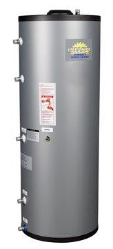 Crown Boiler - MSS Series - MEGA-STOR Model MSS-240S   240 Gallon Solar Stainless Steel Indirect Water Heater