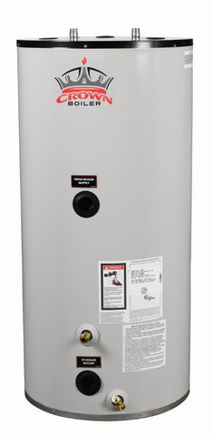 Crown Boiler - MT Series - MAXI-THERM 2 Model MT040 GBR   40 Gallon Glass Lined Indirect Water Heater