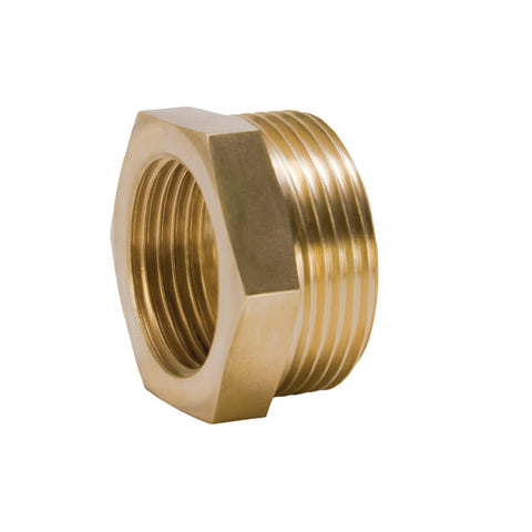 "Caleffi NA10087 Brass 1"" FPT x 1 1/4"" MPT Bushing"