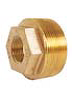 "Caleffi NA10234 Low Lead Brass 2"" NPT Male x 3/4"" NPT Female Reducing Bushing"