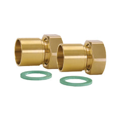 "Caleffi NA12269  1"" Sweat Union Connection Set, 2 Union Nuts, Washers, and Tailpieces"