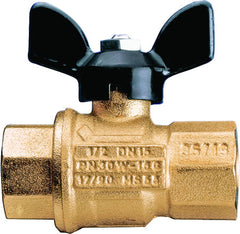 "Caleffi NA39589 Brass 3/4"" NPT Female Ball Valve with T-handle"