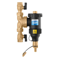 "Caleffi NA545355  DIRTMAG 3/4"" Union NPT Composite Body Magnetic Dirt Separator w/ Isolation Valves"