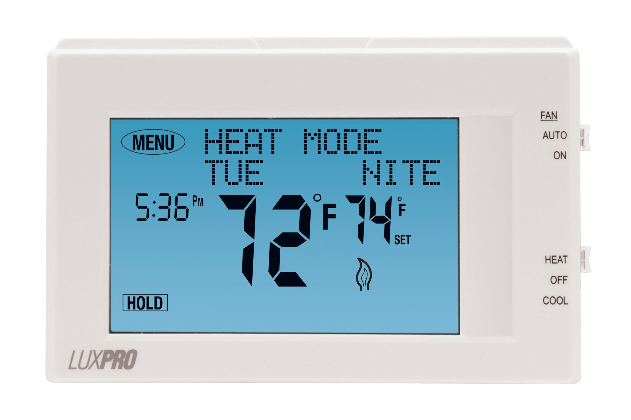 LuxPro P721UT PROGRAMMABLE THERMOSTAT, 7 DAY PROGRAMMABLE MULTI-STAGE  TOUCHSCREEN (2 HEAT - 1 COOL)