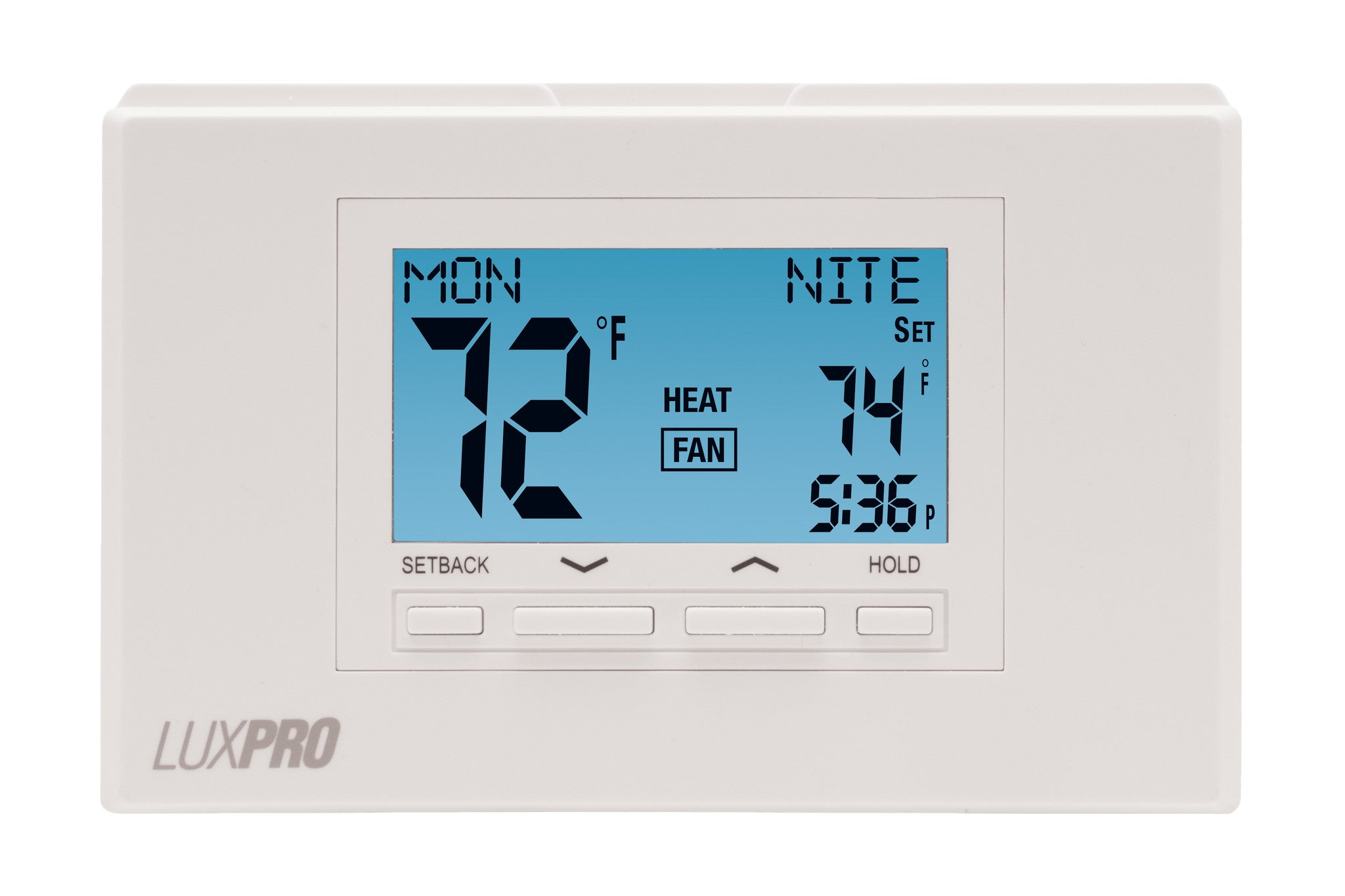 LuxPro P722U   PROGRAMMABLE THERMOSTAT, 7 DAY PROGRAMMABLE MULTI-STAGE (2 HEAT - 2 COOL)