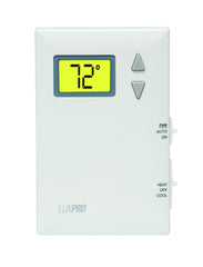 LuxPro PSD011B   NON-PROGRAMMABLE, DIGITAL THERMOSTAT, BATTERY POWERED (1 HEAT - 1 COOL)