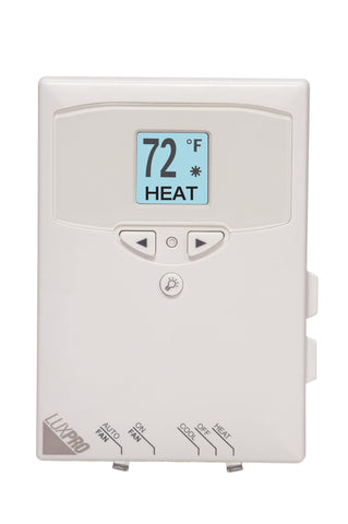 LuxPro PSD111 NON-PROGRAMMABLE MULTI-POSITIONAL THERMOSTAT SINGLE STAGE (1 HEAT - 1 COOL)