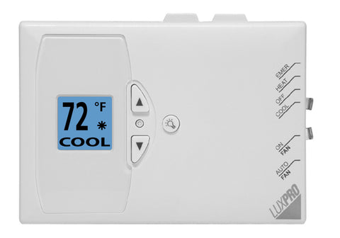 LuxPro PSDH121 DOUBLE DUTY MULTI-POSITIONAL, NON-PROGRAMMABLE HEAT PUMP THERMOSTAT (2 HEAT - 1 COOL)
