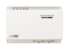 LuxPro PSM400SA   WHITE MECHANICAL SNAP-ACTION THERMOSTAT (1 HEAT - 1 COOL)