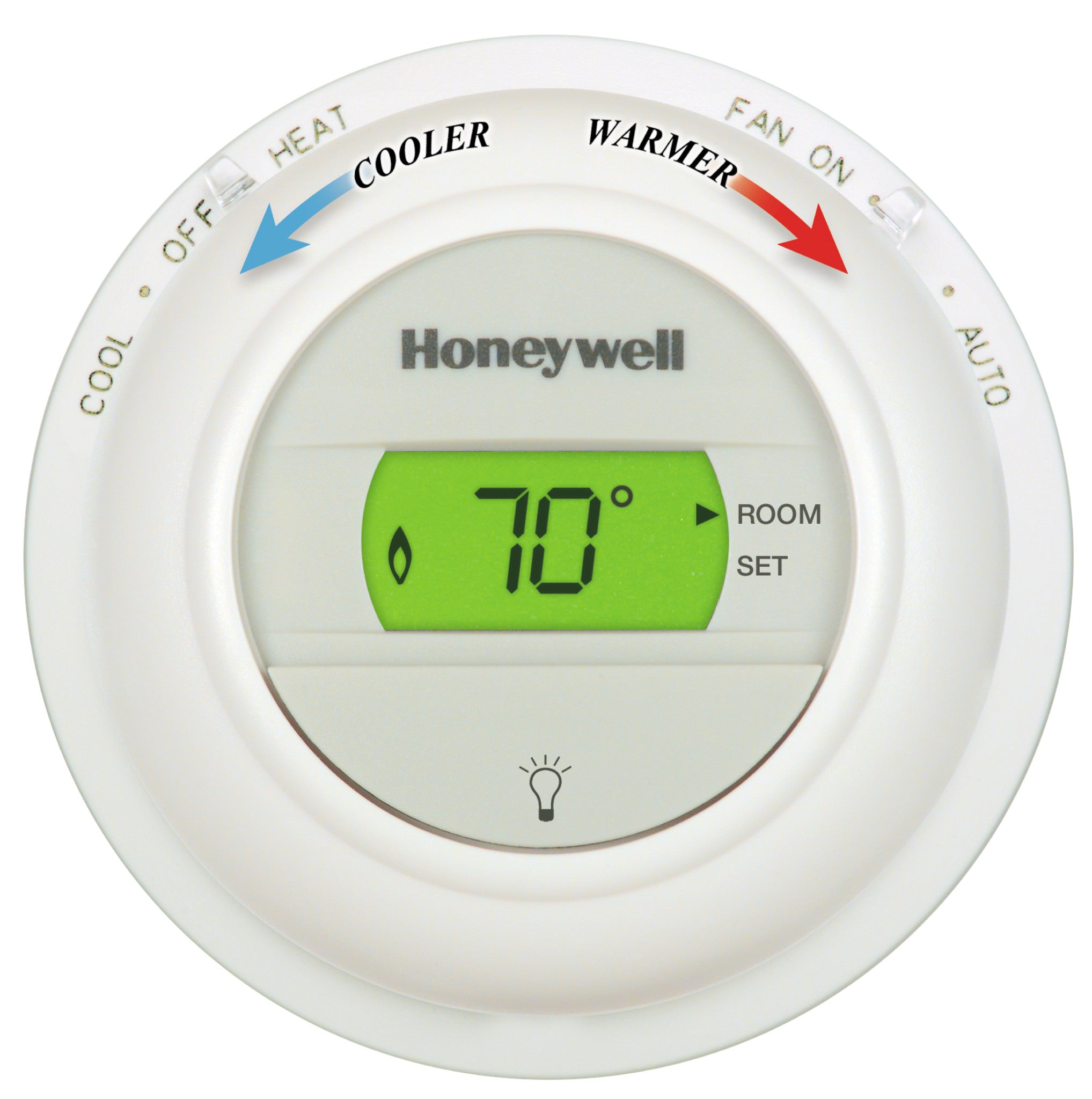 Honeywell T8775A1009 Round Non Programmable Heat Digital Thermostat #AE211D
