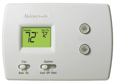 Honeywell TH3110D1008  Pro Non-Programmable, 1H/1C, Standard Display Thermostat