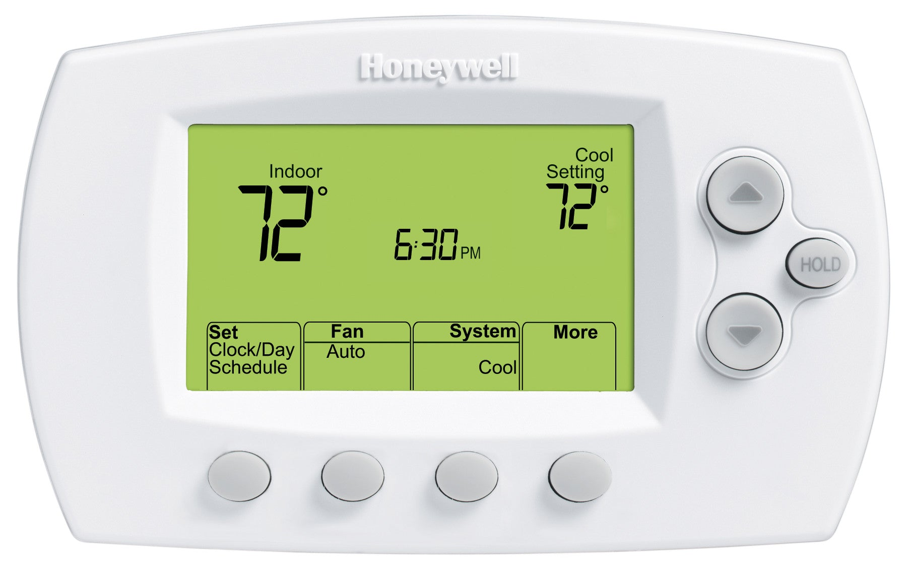 Honeywell TH6220D1028 FocusPro Programmable, 2H/2C, Large Display Thermostat