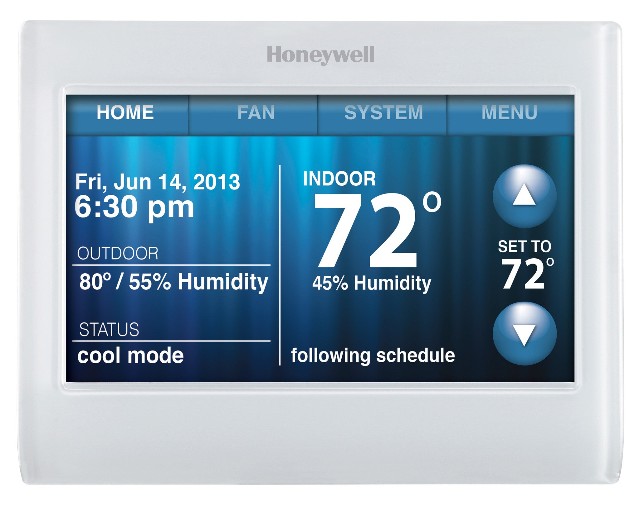 Honeywell TH9320WF5003  Wi-Fi 9000 7-Day Programmable Multi Stage 3H/2C Color Touchscreen Thermostat