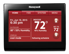 Honeywell TH9320WFV6007  Wi-Fi 9000 with Voice Control - 7-Day Programmable Multi Stage 3H/2C Color Touchscreen Thermostat