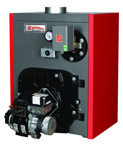 Crown Boiler - TWZ Series - TOBAGO Model TWZ075 - 91,000 BTU Wet Base Cast Iron Oil Fired Hot Water Boiler - (85.8% AFUE) Energy-Star High-Efficiency Oil Boiler