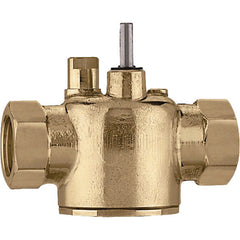 Caleffi Z200043 Brass Model Z2 2-Way Zone Valve Body Inverted Flare 3.5 Cv 30psi