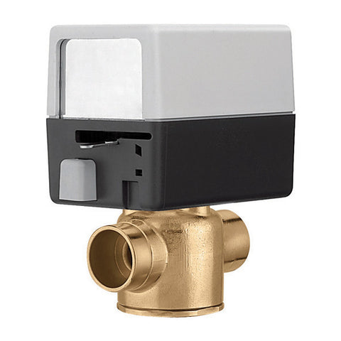 Caleffi Z40F Brass Model Z4 2-Way, Normally Closed End Switch, 24V, Inverted Flare,3.5 CV + 2 fittings