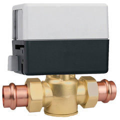 "Caleffi Z55P Brass Model Z5 2-Way, Normally Closed EndSwitch, 24V, 3/4"" Press 7.5 Cv 20psi With Terminal Block"