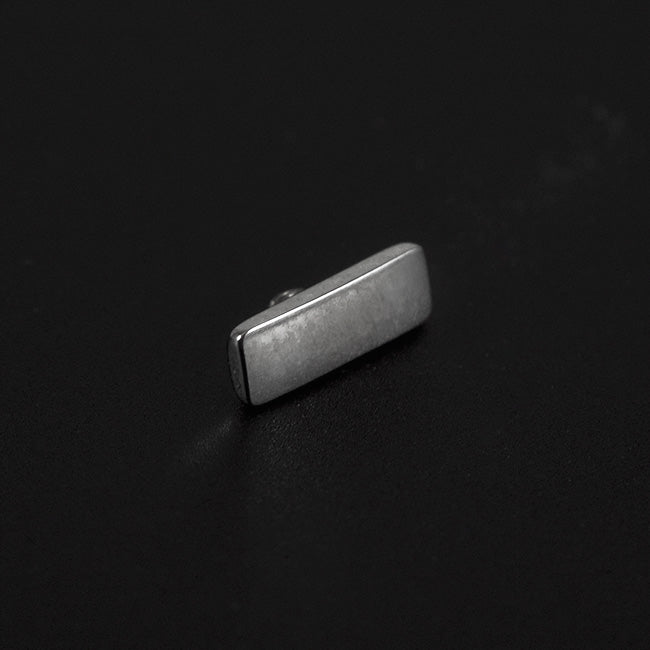 Rectangle Titanium Bar Threaded Attachment