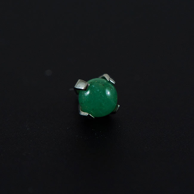 Titanium Natural Stone Jade Bead Attachment
