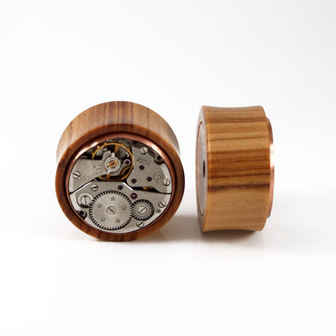 26mm African Wild Olive Wood Watch Movement Plug (Only Single Plug available)