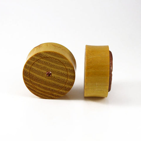 28mm Osage Orange Wood Watch Movement Plug (Pair)