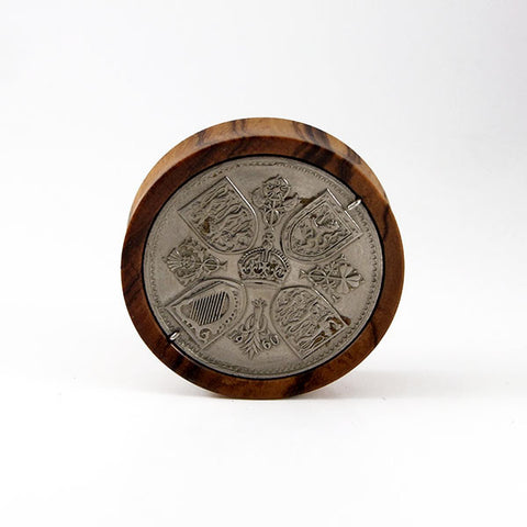 44mm Olive Wood Five Shilling Plug (Single)