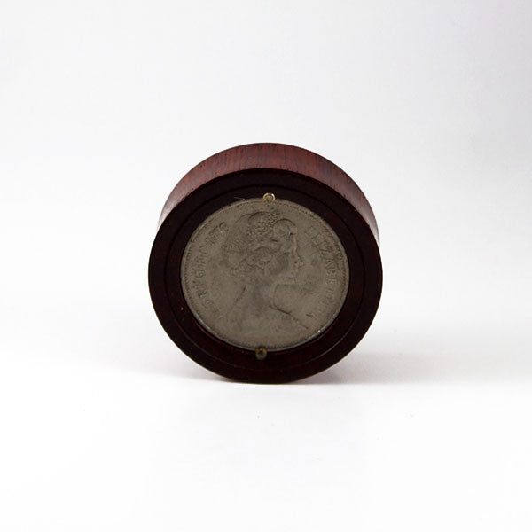 38mm Bloodwood Old British 10 Pence Coin Plug (Single)