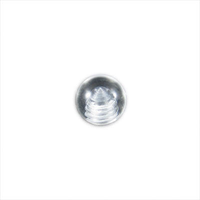 Clear Acrylic Threaded Balls