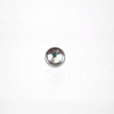 Titanium Threaded Jewelled Mirco Ball