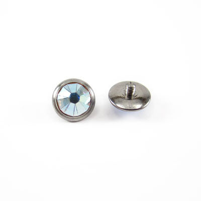 Titanium Jewelled Dermal Anchor Disc