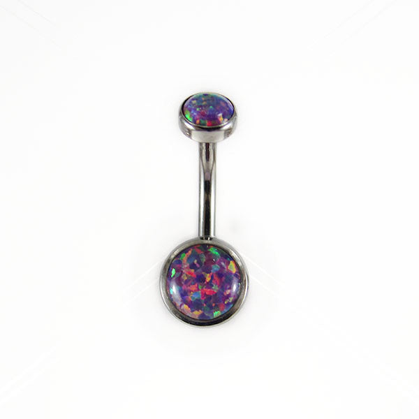 QualiTi double opal navel bar