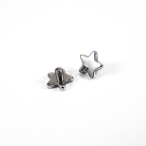 Titanium Star Shaped Threaded Attachment - The Halo Collection