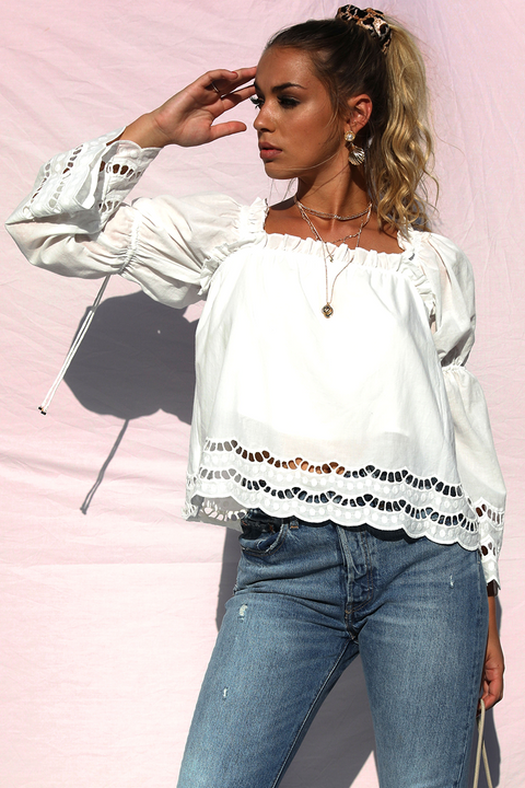 SIENNA TOP - WHITE