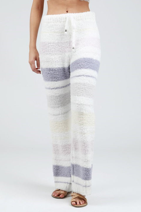 POL-Striped berber fleece 'cozy' pants