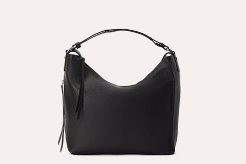 Kiko Genuine Leather Versatile Shoulder Bag Black