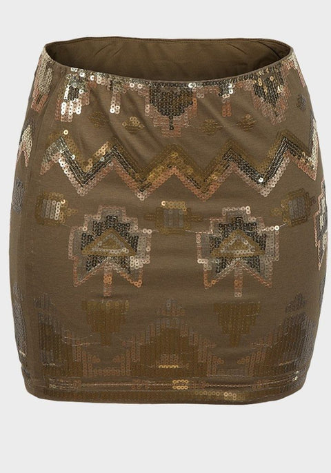 Wet Seal Ladies Sequin Mini Skirt Skirt