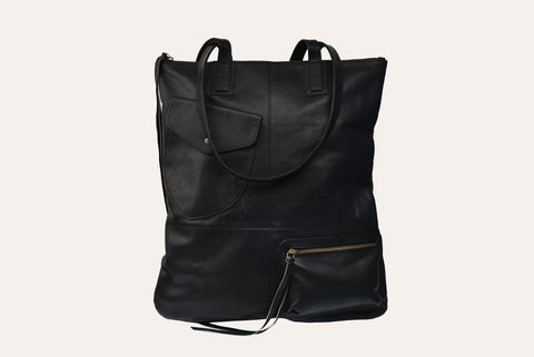 Genuine Leather Fold N Hold Tote Tote