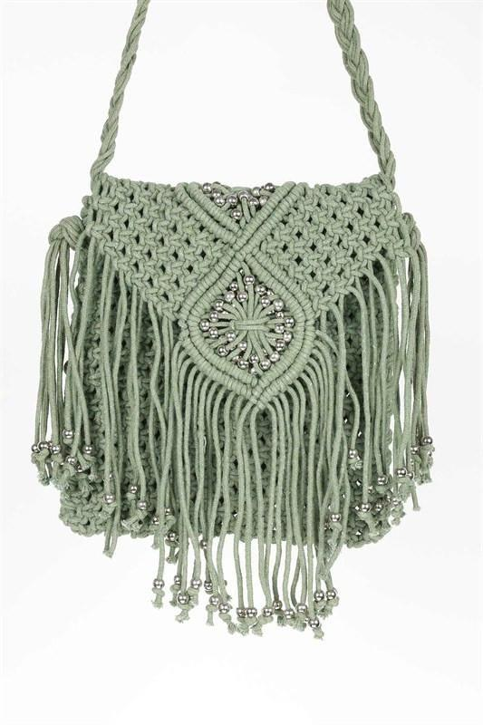 Braided Boho Crossbody Bag Handbag