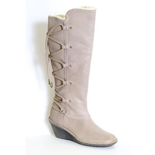 Otbt Abroad Tall Wedge Leather Boots Boots