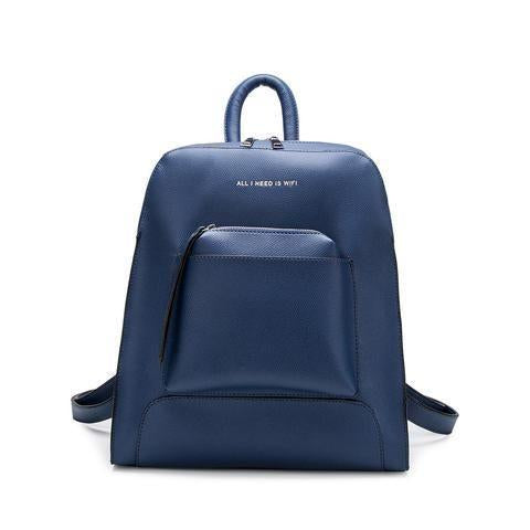 Melie Bianco Joelle All I Need Is Wifi Back Pack -Navy