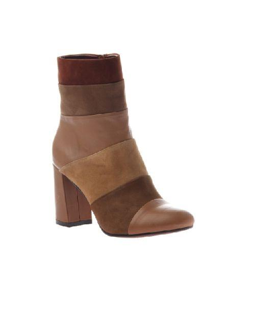 Patchwork Places In New Tan Booties