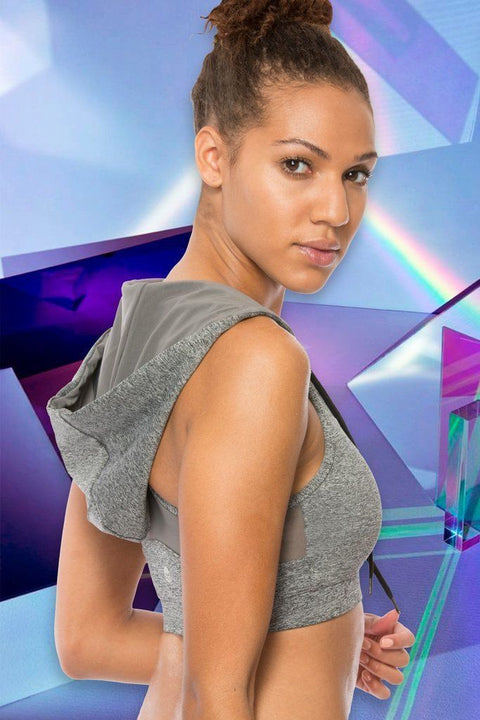 Motion By Coalition -Brooke Motion Standout Hooded Sports Bra S / Gray Activewear